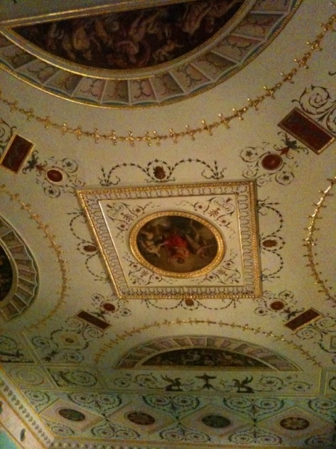 Detail of Ceiling in Turquoise Rococo Room