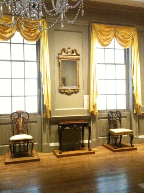 Recreation of English Drawing Room, c. 1775