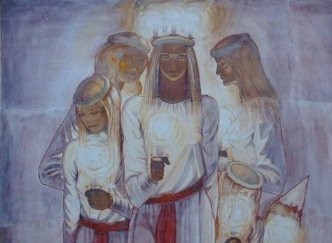 Lucia and her attendants